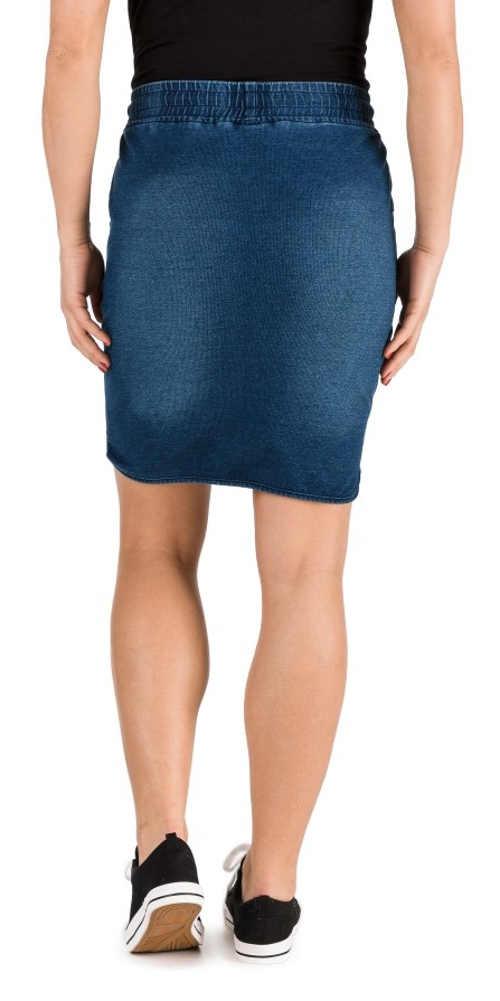 riflová mini sukně v modré a černé