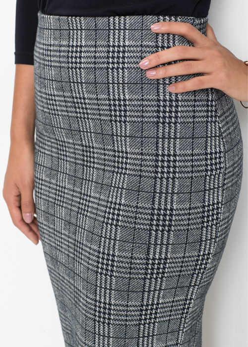 Šedá károvaná sukně pro starší
