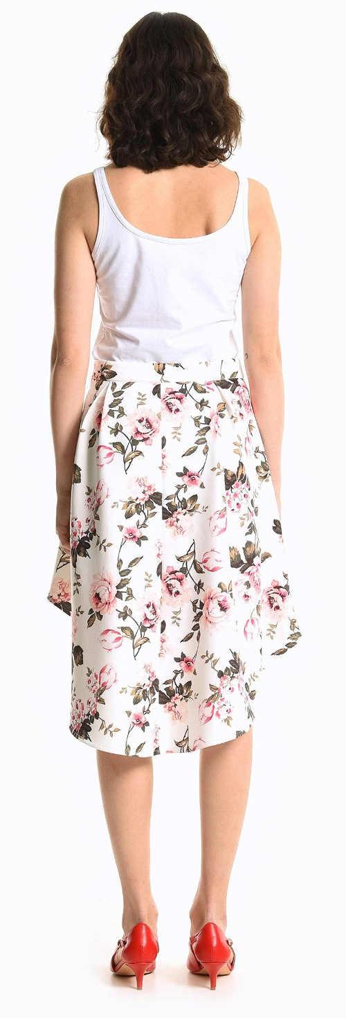 Společenská květovaná letní sukně