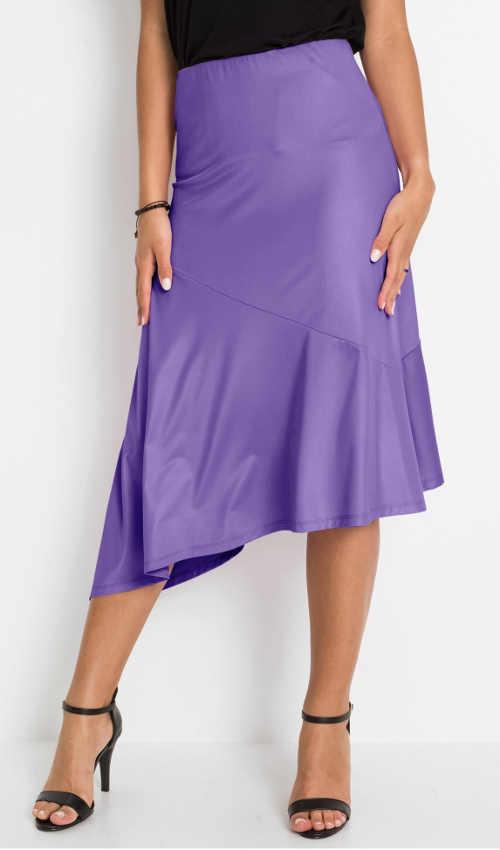 sukně v asymetrickém střihu nejen do společnosti