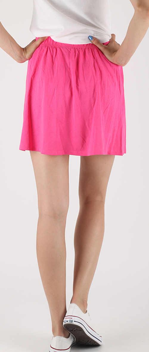Levná růžová bavlněná dámská sukně na léto