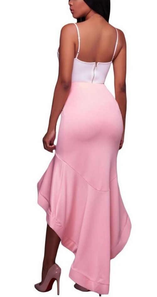 Moderní růžová plesová sukně