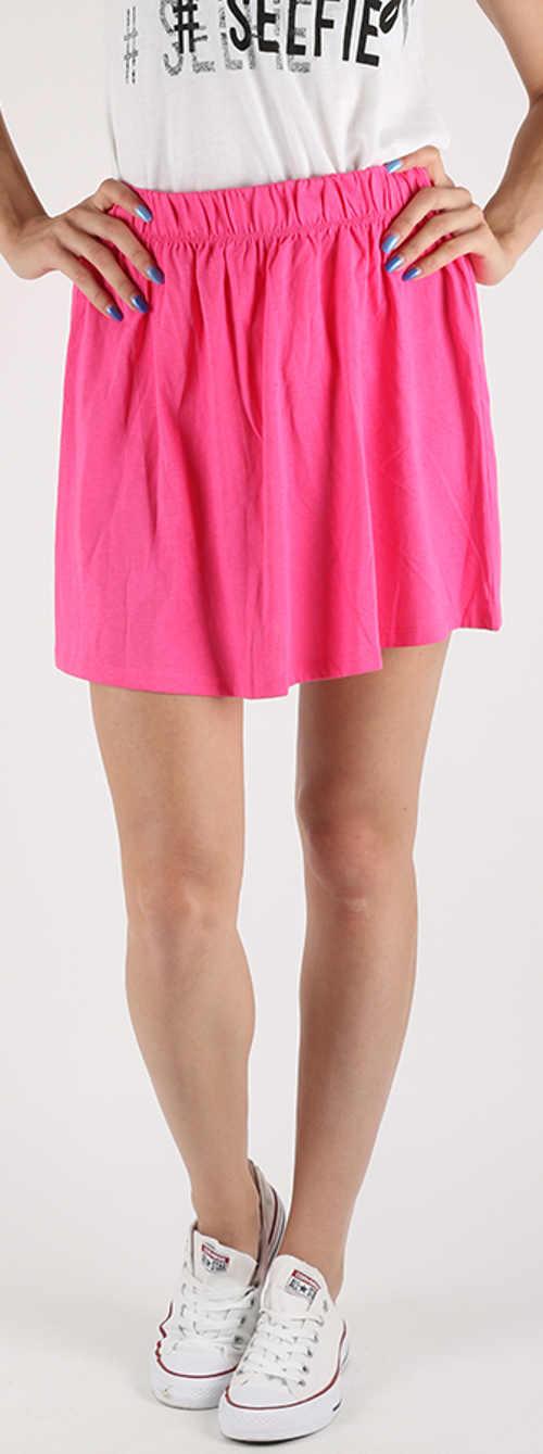 Růžová dámská nabíraná sukně Terranova Gonna