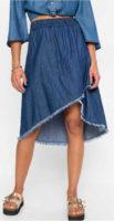 Džínová dámská sukně zavinovacího vzhledu