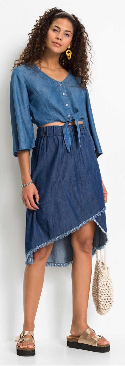 Zavinovací džínová sukně na léto