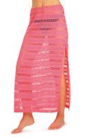 Dámská plážová sukně s dlouhými bočními rozparky