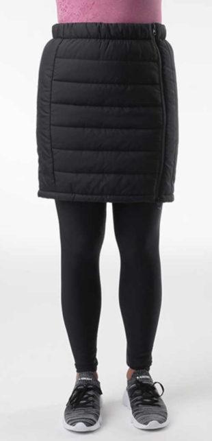 Moderní zateplená prošívaná sukně v krátké délce