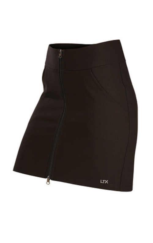 Sportovní krátká sukně s kapsami vpředu na dvoucestný zip
