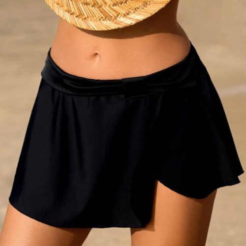 černá krátká plážová sukně