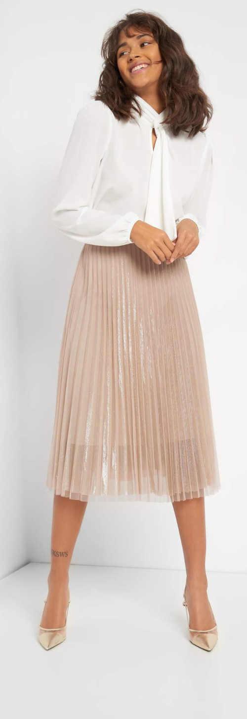 moderní dámská tylová midi sukně