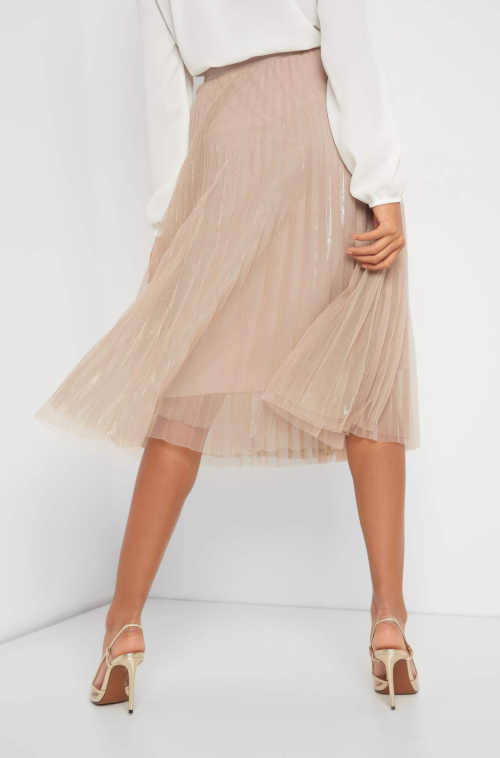 moderní tylová plisovaná sukně