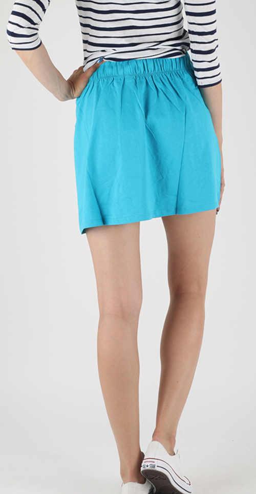 modrá mini dámská sukně