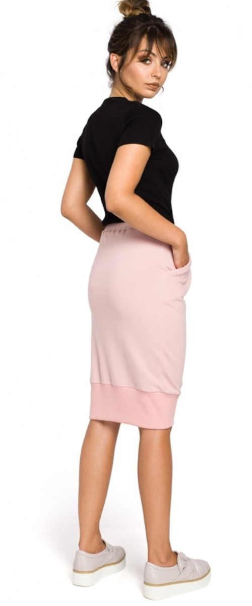 růžová dámská pohodlná sukně