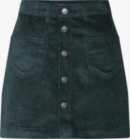 Bavlněná krátká sukně s kapsami v manšestrovém vzhledu