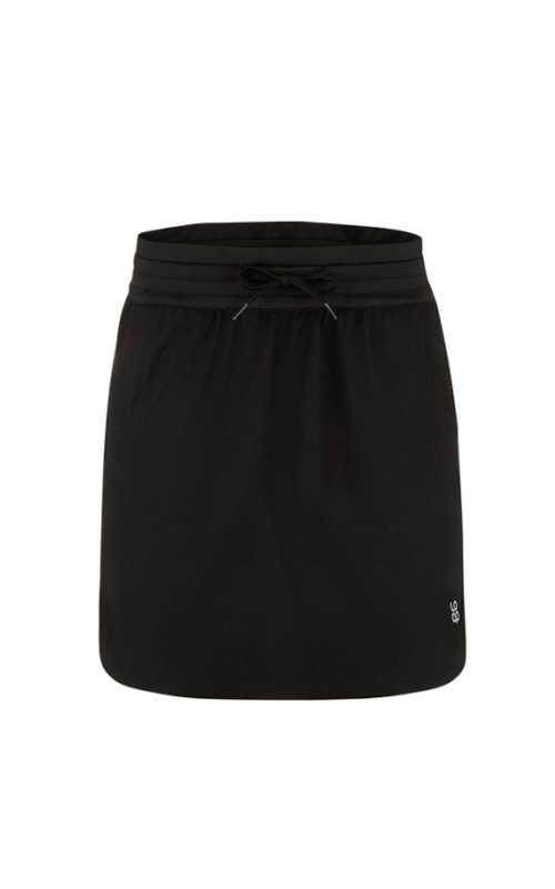 Dámská moderní černá sportovní sukně do pružného pasu