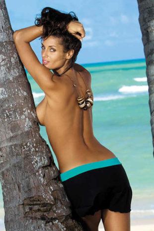 Plážová dámská moderní sukýnka ve dvoubarevném provedení
