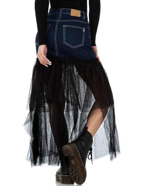 dámská riflová sukně s tylem