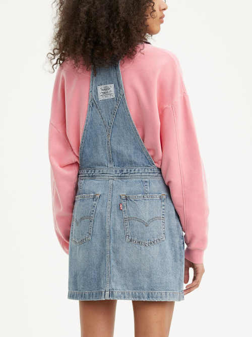 krátká sukně riflová s laclem