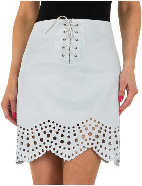 krátká sukně s děrovaným zakončením