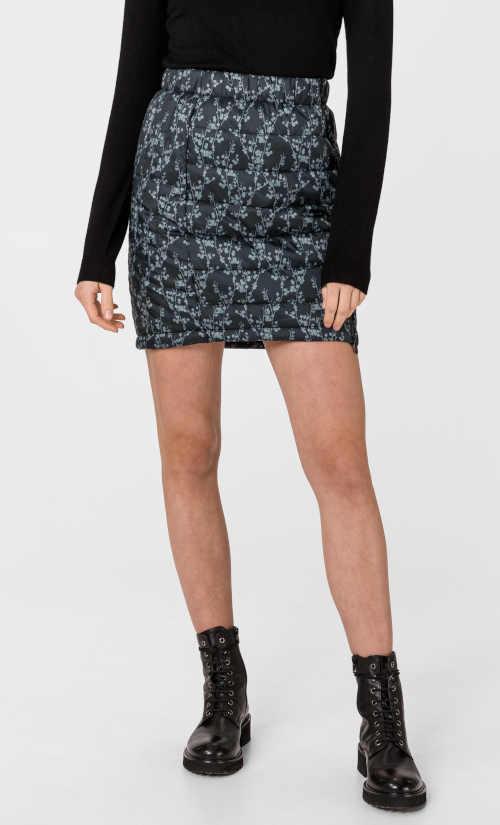 krátká zimní prošívaná sukně