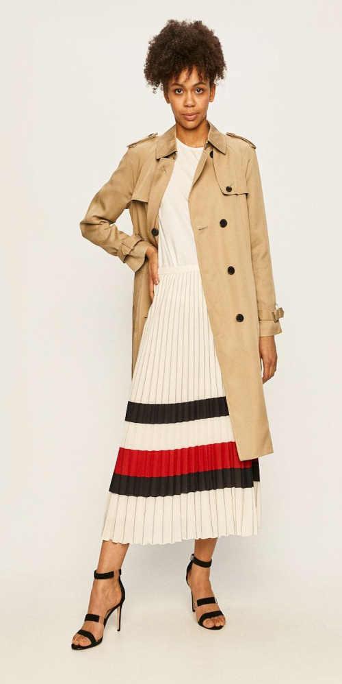 skládaná trojbarevná dlouhá sukně