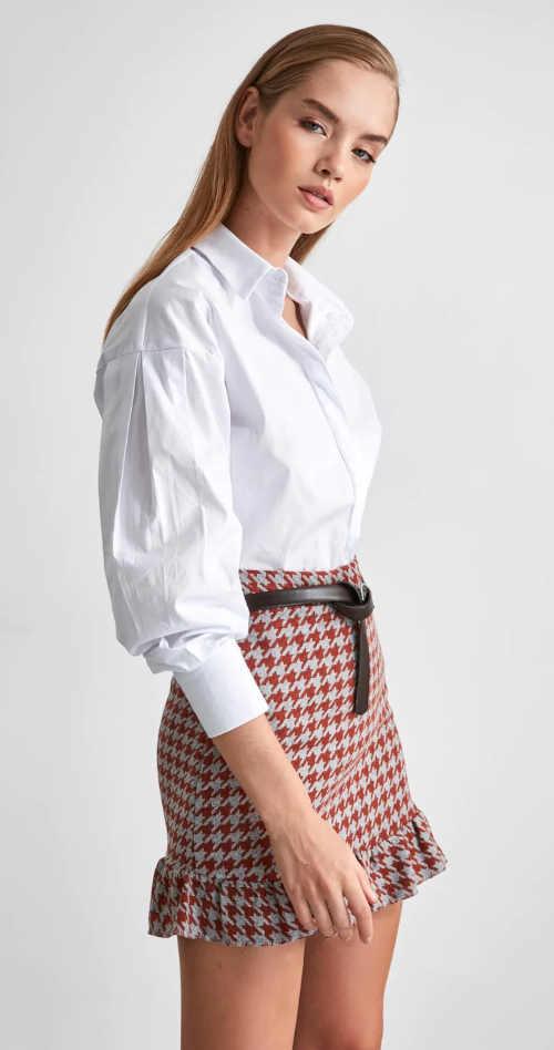 sukně s volánkem dvoubarevná