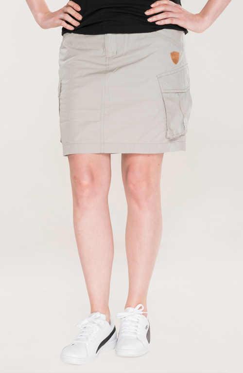 Bavlněná volnočasová sukně v krátké délce s kapsami