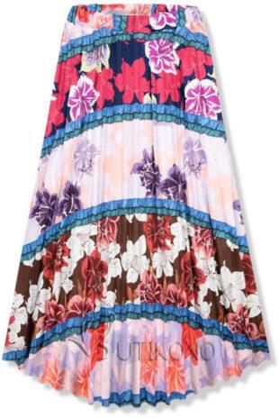 Dámská květinová moderní sukně v komfortní maxi délce