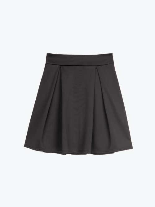 černá mini sukně na zip
