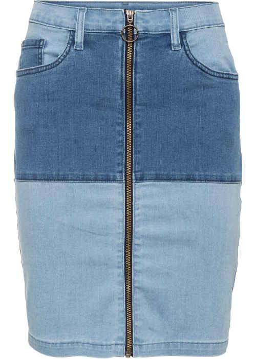 džínová sukně z recyklovaného materiálu