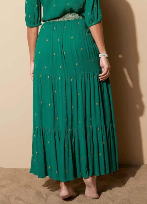 komfortní dlouhá sukně s potiskem