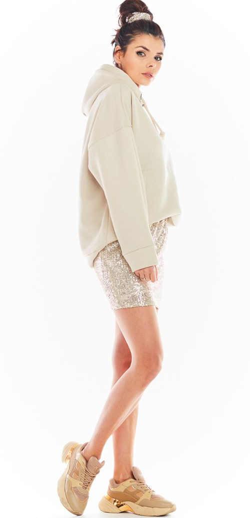 krátká sukně s flitry