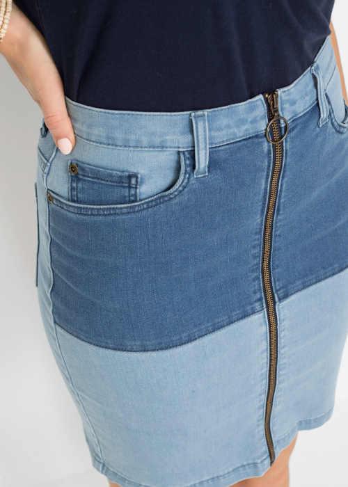 moderní pohodlná riflová sukně na zip