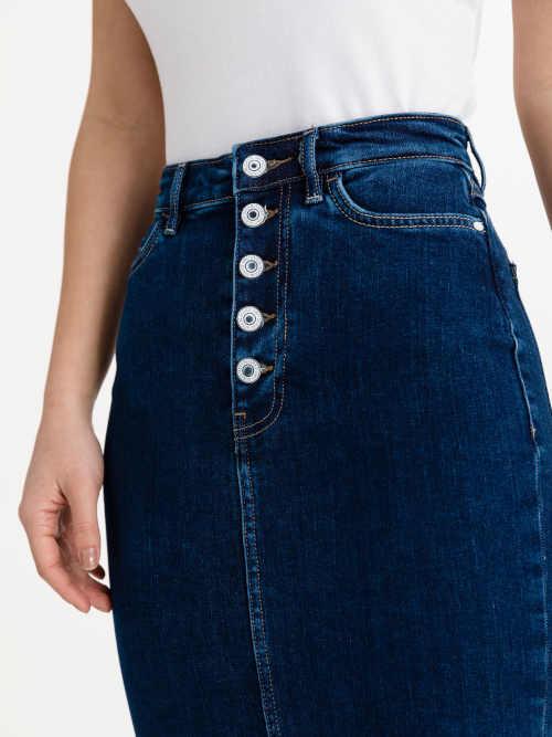riflová užší sukně Guess