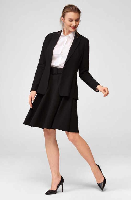 sukně áčkového střihu s páskem