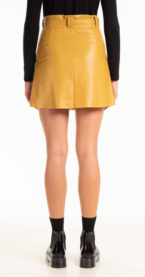 sukně mini z imitace kůže