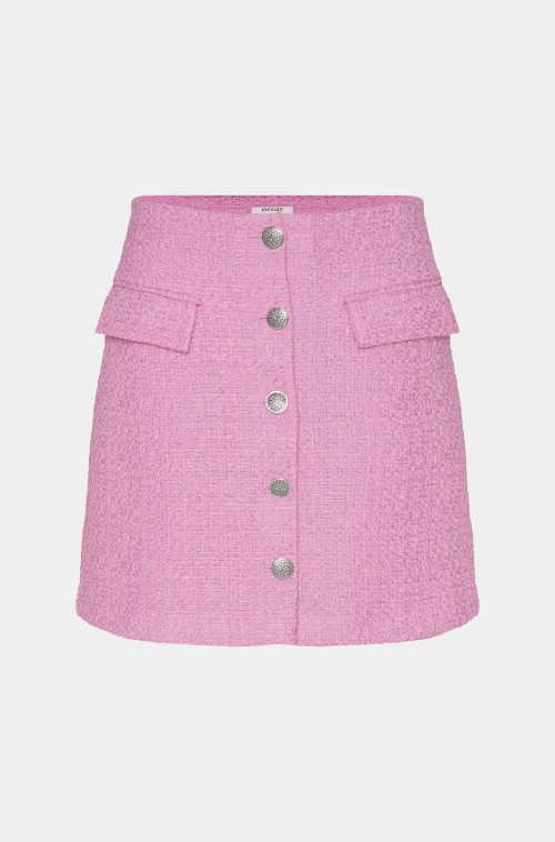 sukně na knoflíky s kapsami áčkový střih