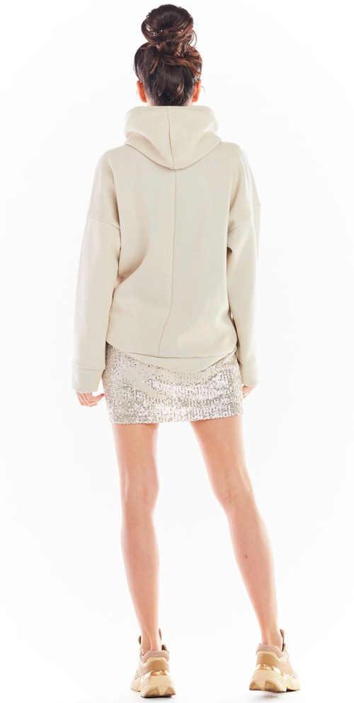 sukně v mini délce béžová