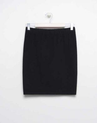 Bavlněná sukně v rovném střihu v černém provedení