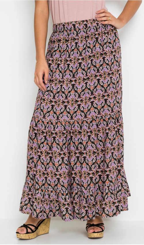 Dámská maxi sukně se třpytivým efektem a pružným pasem