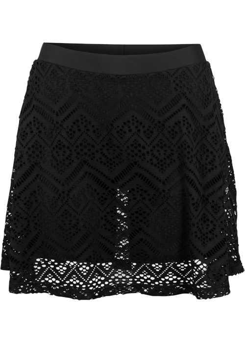 Moderní praktická koupací sukně s elastickou krajkou