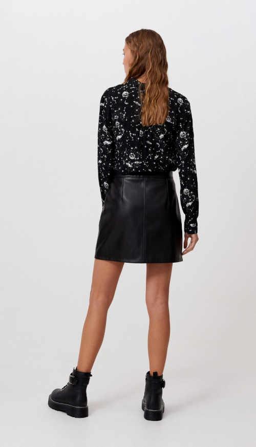 černá dámská sukně na zip