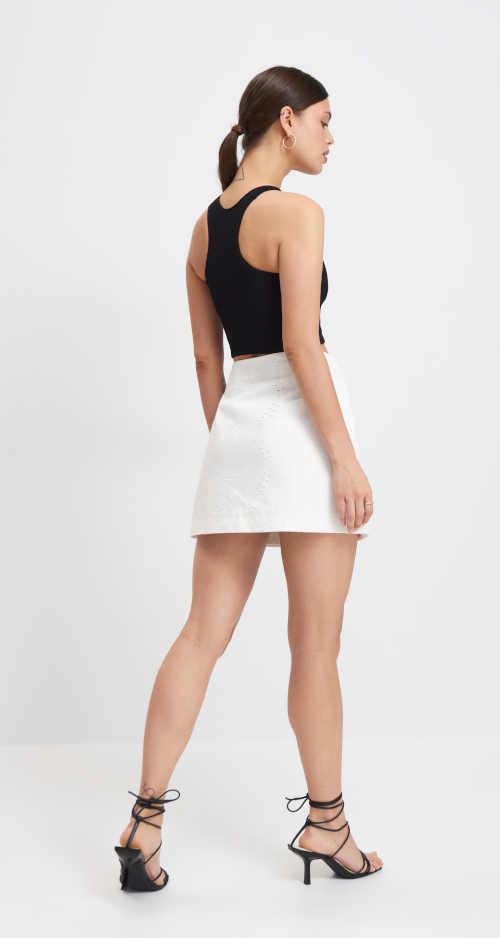 dámská mini sukně z bavlny