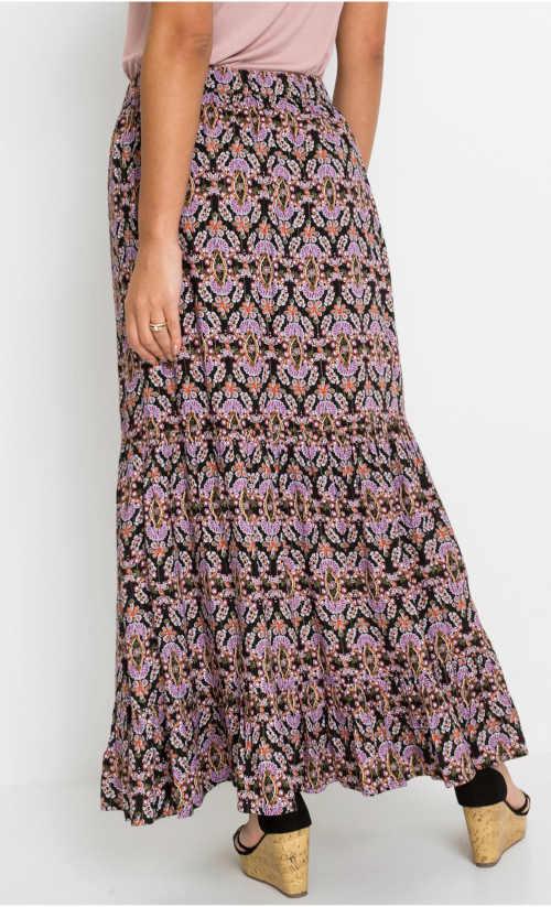 dlouhá dámská barevná sukně