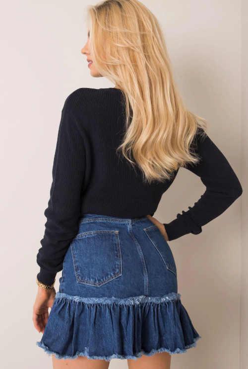 džínová dámská mini sukně