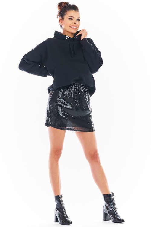 moderní krátká sukně s flitry