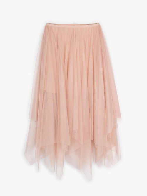 moderní tylová asymetrická sukně