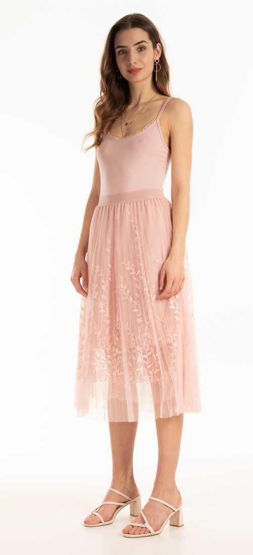 růžová dámská tylová sukně