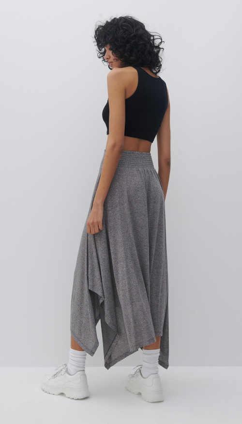 sukně dlouhá v asymetrickém střihu