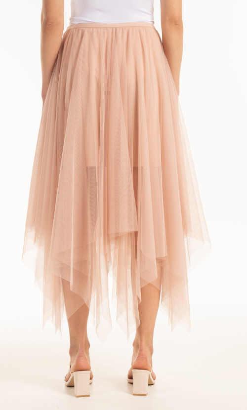 sukně tylová asymetrického střihu